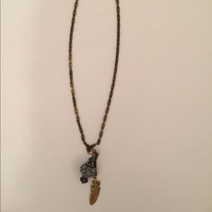 Feather & Bead Necklace